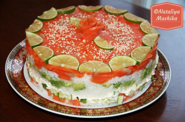 Суши-торт на праздник